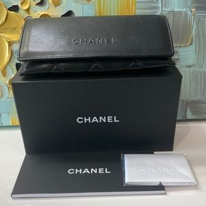 Chanel Black Quilted Sunglasses Case Set